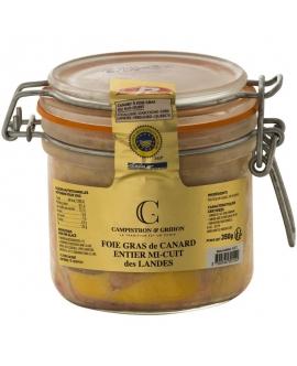 Foies gras de canard entier mi-cuit