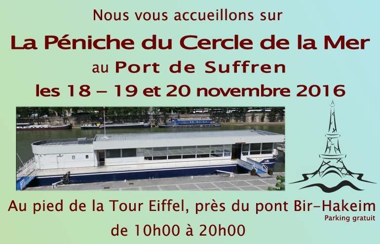Nous serons présents à Paris les 18 - 19 et 20 novembre 2016